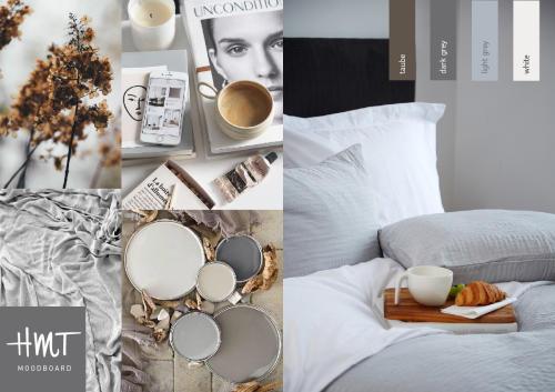 GUNILLA - sengetæppe og puder i bomuldsblanding