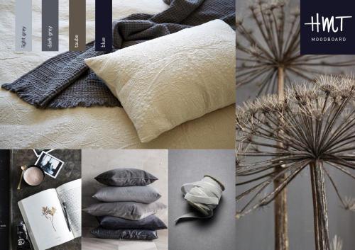 LISA - sengetæppe og puder i bomuldsblanding